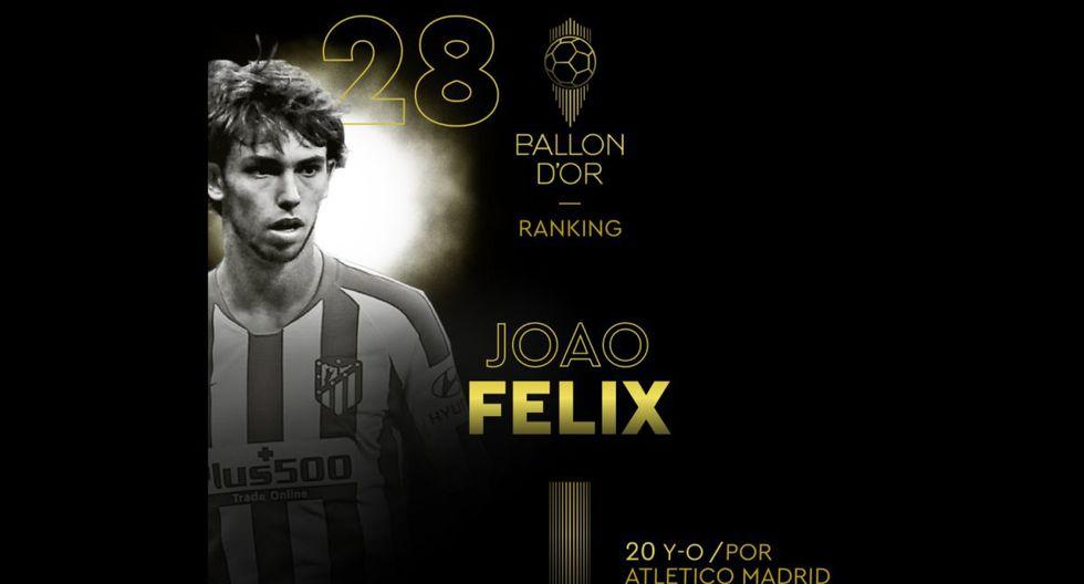 Joao Félix   Atlético de Madrid. (Foto: @francefootball)