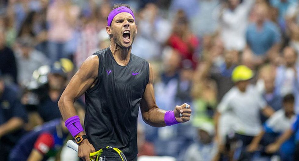 Rafael Nadal festejando su triunfo. (Foto: Getty Images)