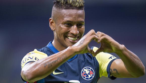 Pedro Aquino  marcó su primer gol oficial como 'Águila' ante Pachuca. (Foto: Club América)