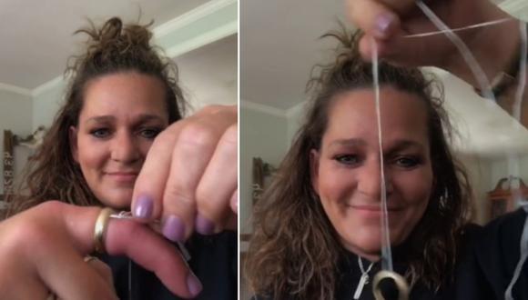 Una mujer causa sensación en Internet por el truco que aplica para quitarse un anillo atorado en su dedo. (Foto: @saltyroots207 / TikTok)