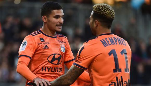 Depay y Aouar seguirán en Lyon, salvo cambios de última hora. (Foto: AFP)
