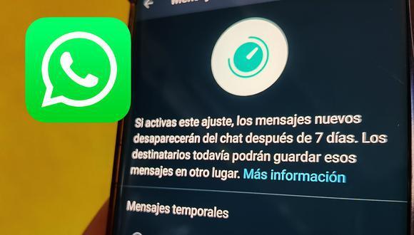 WhatsApp quiere ir un poco más lejos con los mensajes temporales. Conoce las nuevas opciones que añadió la app para mejorar la privacidad de los usuarios. (Mag)