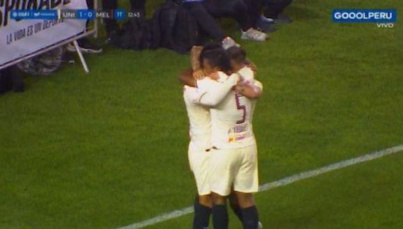 Osorio marcó el primero en el Universitario vs. Melgar. (Captura)