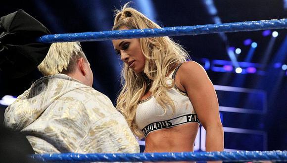 James Ellsworth ayudó a Carmella a ganar el primer Money in the Bank femenino. (WWE)