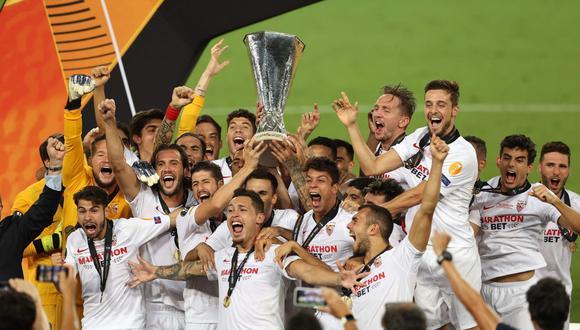 Sevilla ganó la sexta Europa League de su historia. (AFP)