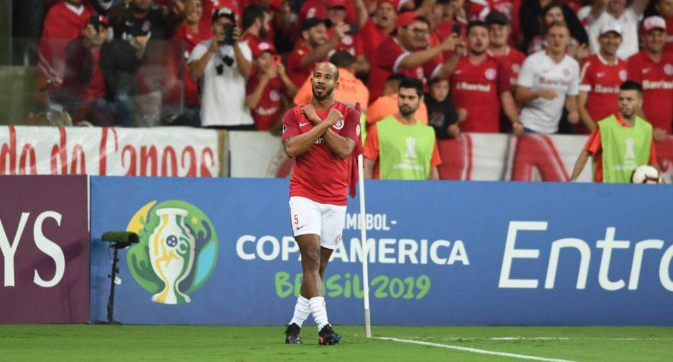 Guerrero metió al Internacional a octavos de la Copa con doblete ante Palestino. (Getty)