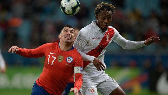 André Carrillo y las posibilidades de que pueda estar en la fecha tripla de octubre por las Eliminatorias. (Foto: AFP / Juan MABROMATA)