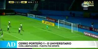 Copa Libertadores 2020: 'U' luchó hasta el final ante Cerro Porteño