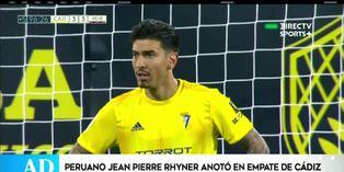 Jean Pierre Rhyner anotó su primer gol con el Cádiz español