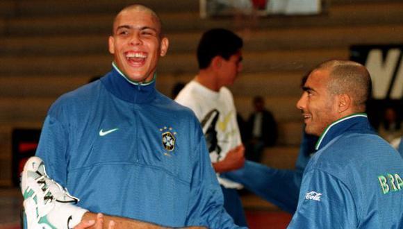 Ronaldo y Romario fueron campeones del Mundial 1994 con Brasil. (Foto: AFP)