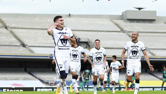 Pumas venció 4-1 a Puebla y sigue invicto en la Liga MX.