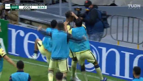 El gol de Roger Martínez para el 3-1 de América vs. Pachuca. (Captura: TUDN)