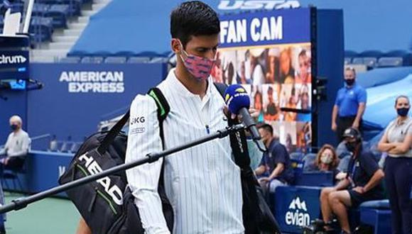 Novak Djokovic fue descalificado de octavos de final del US Open. (Foto: US Open)