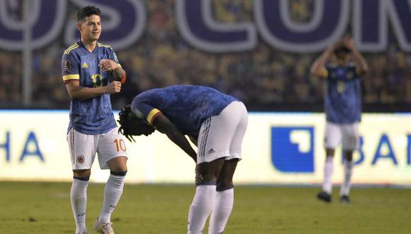 James Rodríguez y Luis Muriel se fueron a las manos, según medios colombianos. (Foto: AP)