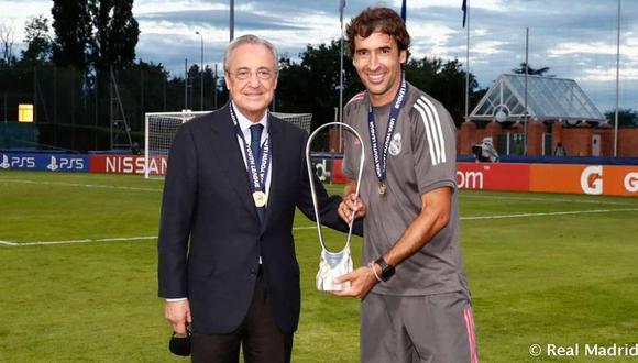 Raúl González, entre los candidatos de Florentino para suceder a Zidane. (Foto: Real Madrid)