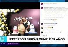 Jefferson Farfán festejó sus 37 años junto a su familia