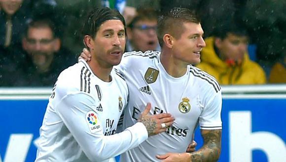 Toni Kroos y Sergio Ramos jugaron juntos en Real Madrid durante siete temporadas. (Foto: AFP)