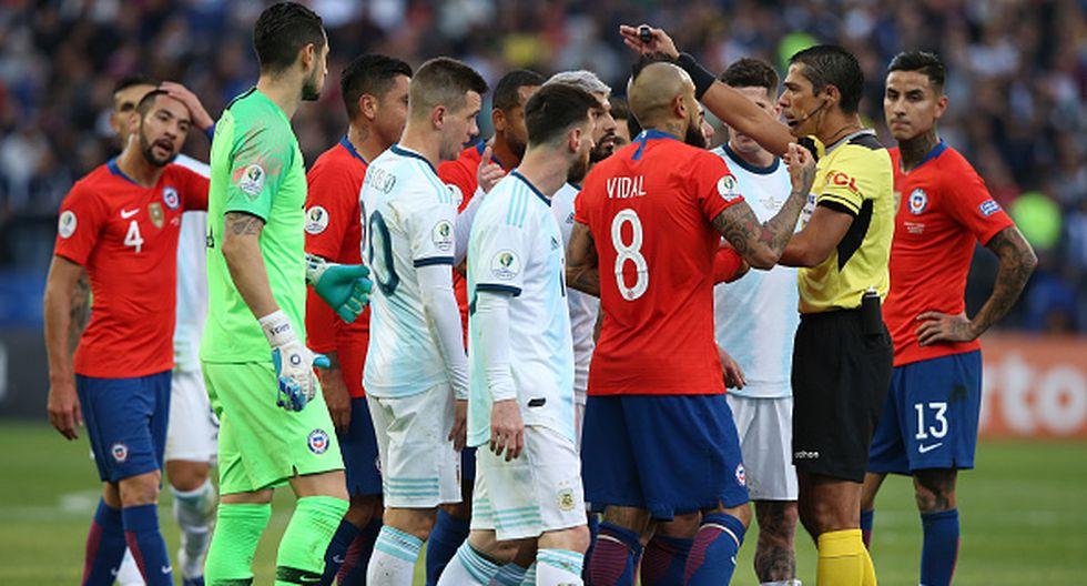 El CUADRO X CUADRO de la tarjeta roja a Messi por Copa América 2019. (Getty)