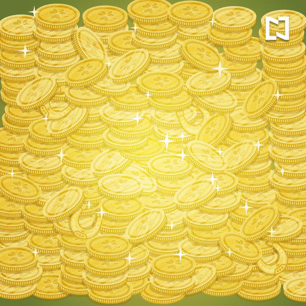 Desafío que te pide ubicar la herradura dorada entre las monedas de oro. (Foto: Facebook/Noticieros Televisa)