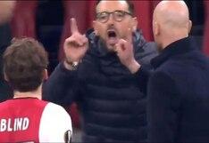 Se encendieron: el tremendo cruce entre los técnicos Ten Hag y Bordalás en el Ajax vs Getafe [VIDEO]