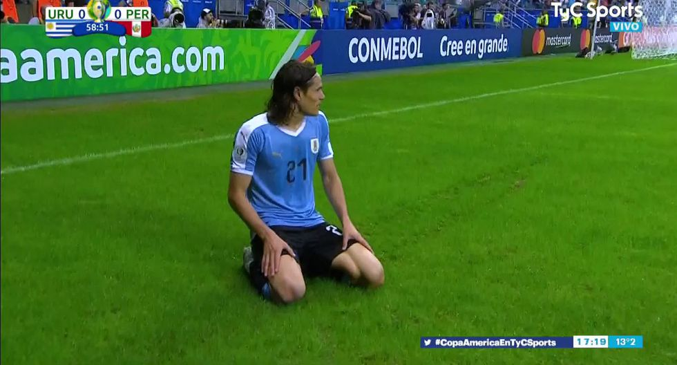 Perú vs. Uruguay Copa América 2019: gol anulado a Edison Cavani (FIFA TV)