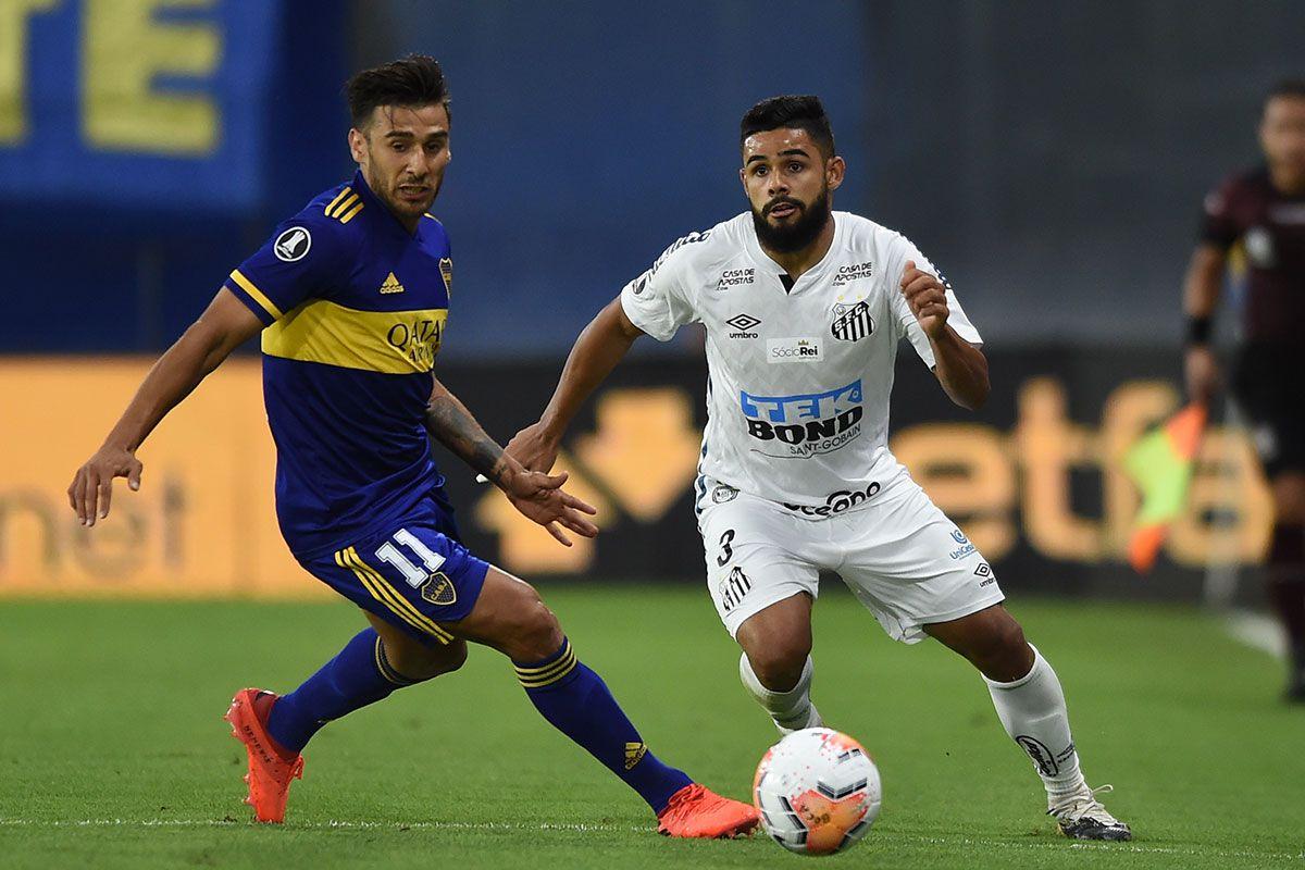 Boca y Santos empataron sin goles en la ida de semifinales de Copa Libertadores. (Foto: AFP)