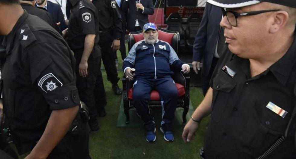Así vivió Diego Maradona el Newell's vs. Estudiantes en Rosario. (Imagen: ESPN)