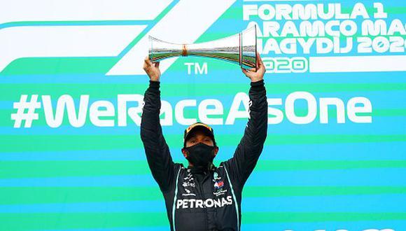 Hamilton ganó el GP de Hungría y tomó el liderato del Mundial de la F1. (Getty Images)