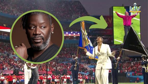 Un video viral muestra cómo un intérprete en lengua de señas se volvió un éxito en la antesala del Super Bowl 2021. | Crédito: NFL / YouTube / @diphopwawa / Twitter.