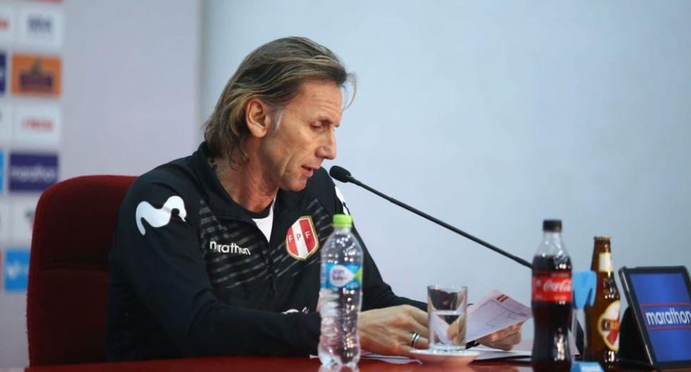 Ricardo Gareca dio una conferencia de prensa para dar la lista de 23 convocados para los amistosos ante Ecuador y Costa Rica. (Foto: Jesús Saucedo)
