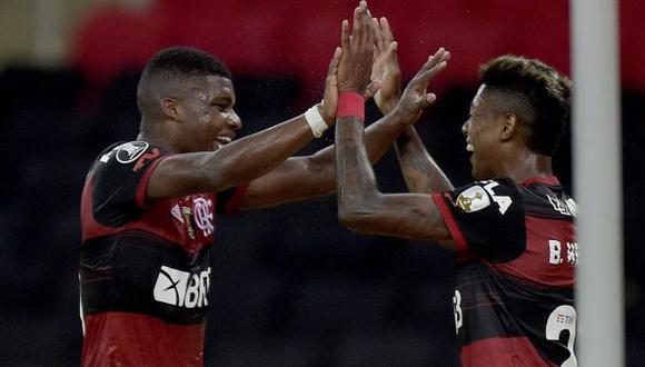 Flamengo venció por 3-1 a Junior por la última fecha del Grupo  A de la Copa Libertadores. (Twitter)