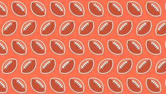 Abre bien los ojos y ubica las hojas entre los balones de fútbol americano. (Foto: Noticieros Televisa)