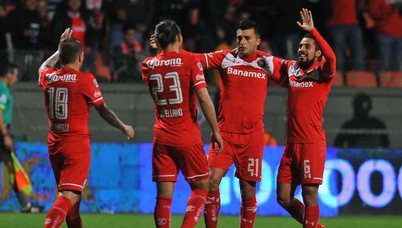 Toluca venció como local a Necaxa por la fecha 3 de Liga MX. (Foto: AFP)