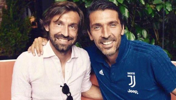 Pirlo y Buffon comparten una gran amistad. (Foto: Instagram)