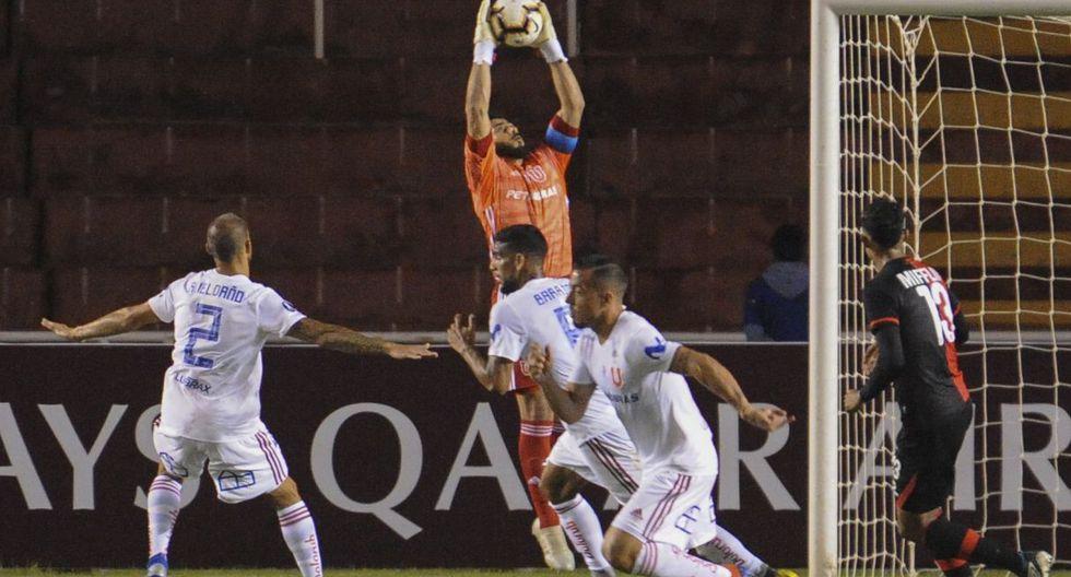 U. de Chile vs. Melgar miden fuerzas en el estadio de la UNSA. (Foto: AFP)