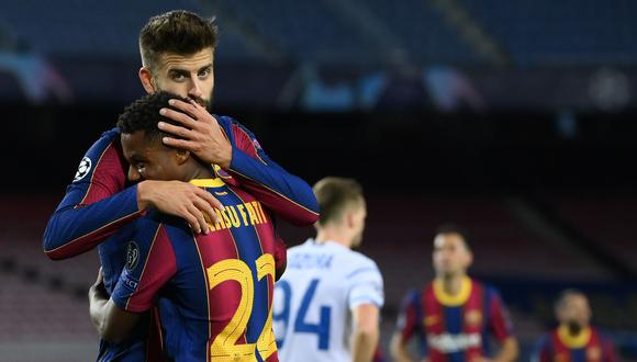 Barcelona vs. Dinamo de Kiev por la Champions League. (Foto: AFP)