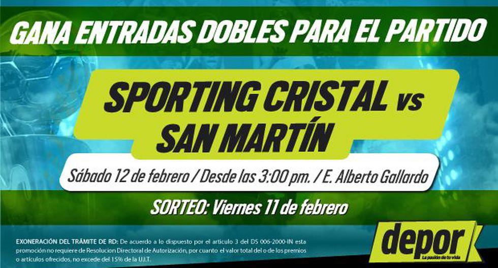 Sporting Cristal vs. San Martín: Depor te regala entradas dobles