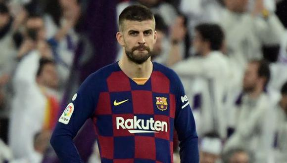 Gerard Piqué ha sido campeón de la liga española con el FC Barcelona, en ocho ocasiones. (Foto: AFP)