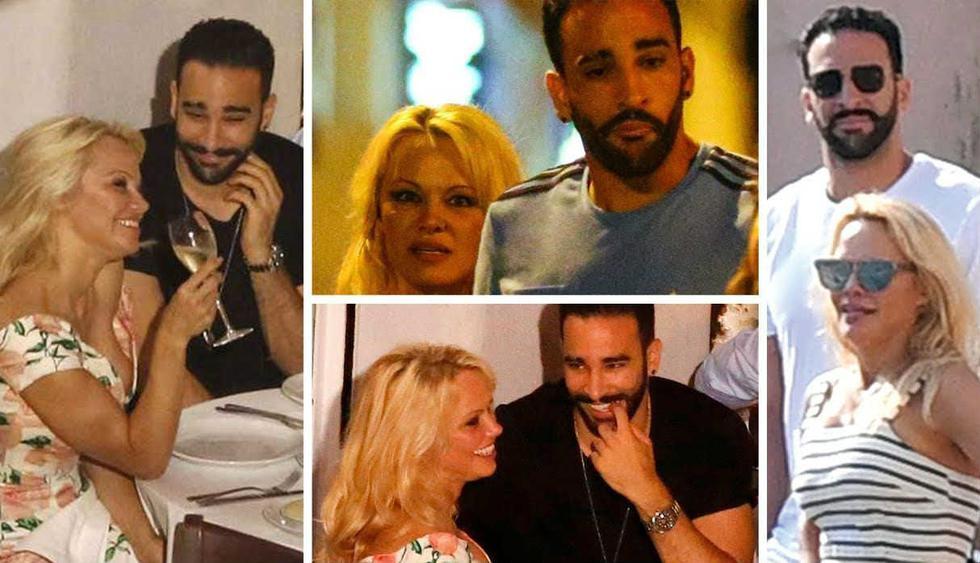 Pamela Anderson y Adil Rami: ¿Cómo se conocieron la estrella de 'Baywatch' y el futbolista francés? (Fotos: AP/Internet)