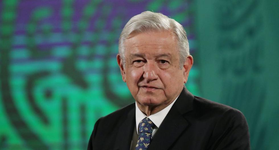 El presidente de México, Andrés Manuel López Obrador (AMLO), ofrece una conferencia de prensa en el Palacio Nacional en la Ciudad de México, el 5 de mayo de 2021. (REUTERS/Henry Romero).