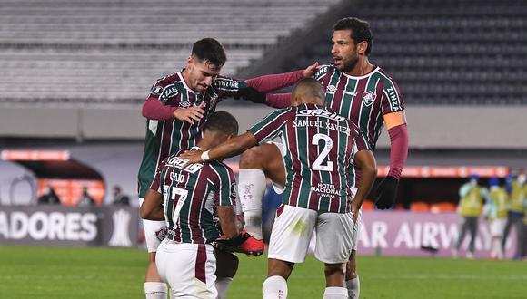 Nené marcó el segundo gol de Fluminense. (Foto: Conmebol)