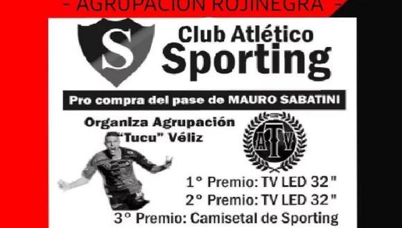 Hinchas del Sporting de Punta Alta hacen rifa para comprar pase de su goleador.