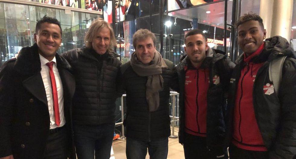 Ricardo Gareca visitó a seleccionados nacionales en Holanda (Foto: Difusión)