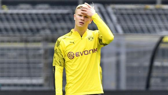 Erling Haaland tendría un precio de salida del Dortmund de 120 millones de euros. (Foto: AFP)