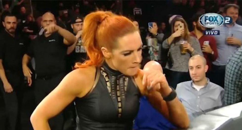 Becky Lynch no la pasó bien en el Monday Night Raw de Boston. (Foto: Fox Sports 2)