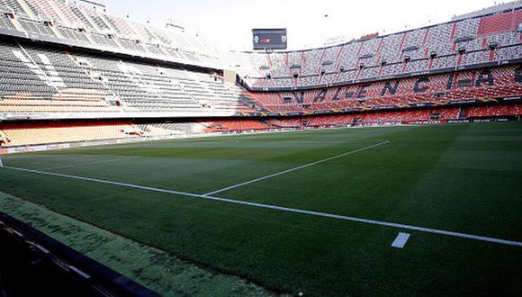 El estadio de Mestalla recibirá hinchas por primera vez desde que estalló la pandemia. (Foto: Getty)
