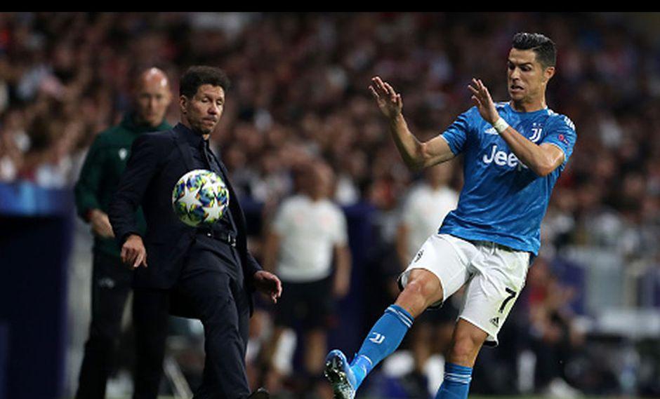 """Simeone se rindió ante Cristiano Ronaldo y aseguró que es """"el número uno"""". (Getty Images)"""