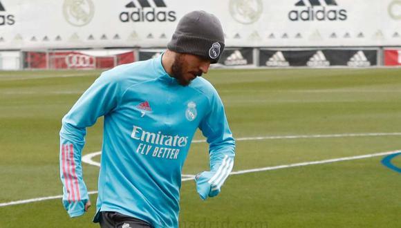 Eden Hazard pisó la cancha después de su lesión muscular. (Foto: Real Madrid)