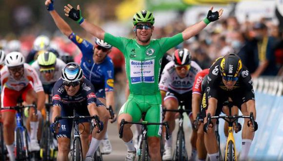 Mark Cavendish ganó la Etapa 10 del Tour de Francia 2021 entre Albertville y Valence. (Reuters)