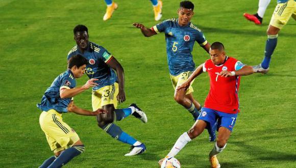Colombia y Chile empataron en duelo rumbo a Qatar 2022